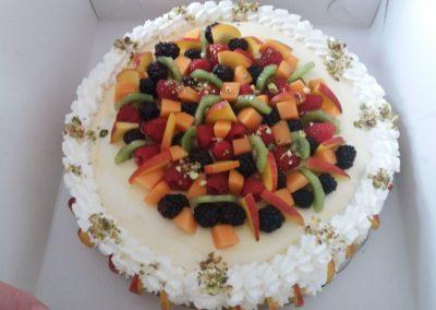Bavarese alla vaniglia con macedonia di frutta